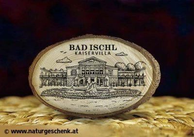 Bad Ischl Kaiservilla Holzmagnet