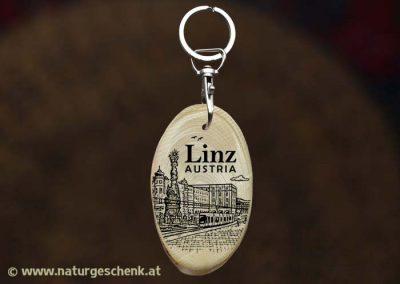 Linz Austria Holz Schlüsselanhänger