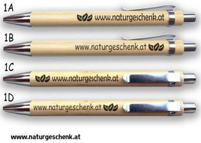 Firmen Bambus Kugelschreiber Naturgeschenk