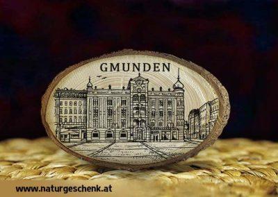 Gmunden Rathaus Holzmagnet