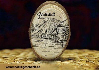 Hallstatt Holzmagnet