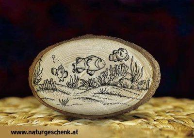 Holzmagnet Anemonenfisch