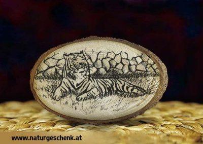Holzmagnet Tiger