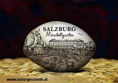 Salzburg Mirabell Flusskiesel