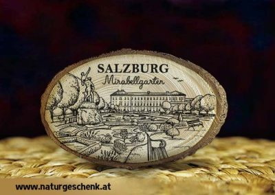 Salzburg Mirabell Holzmagnet