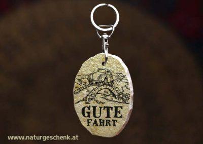 Stein Schlüsselanhänger Gute Fahrt3