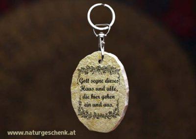 Stein Schlüsselanhänger Haussegen2